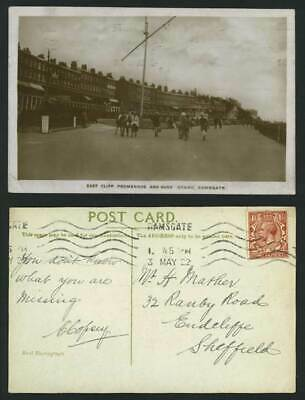Ramsgate 1922 Postcard East Cliff Promenade & Bandstand