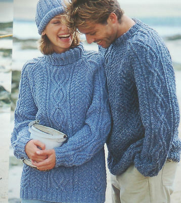 Hamilton Aran Bespoke Wool Hand Knitted Mens & Boys Sweater Jumpers Your Choice