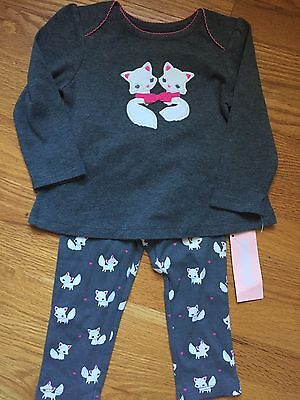 Gymboree Baby Girl 12-18m Arctic Fox Outfit - Swing Top& Leggings NWT