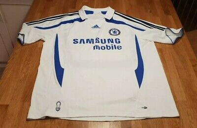 Chelsea FC - White Away Shirt - 2006/07 XL very clean football climacool adidas