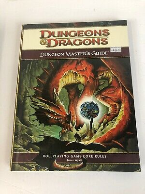 D&D Dungeons Dragons 4th ED DUNGEON MASTER'S GUIDE NM! 4E Core Rules Game RPG