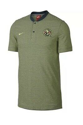 9ef5711e87d NIKE CLUB AMERICA Soccer Polo Shirt Mens Size XL Blue Yellow Striped ...