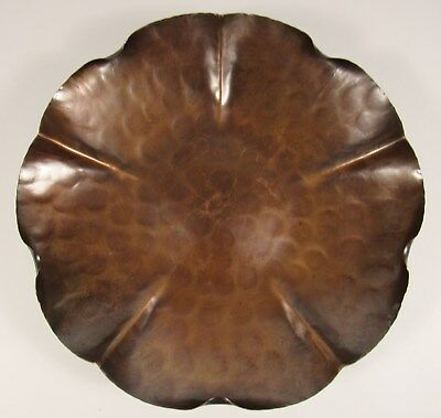 """Vintage VERMONT COPPER CRAFTERS 11"""" Hand Hammered Bowl VCC #500"""
