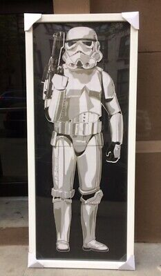 Mr. Brainwash Stormtrooper 2011 White XL Frame (1 of 3) Kaws Retna Obey Banksy
