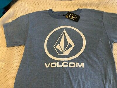Volcom Boys S Short Sleeve T-Shirt Tee Big Youth Primo Palms Hawaii Blue NWT
