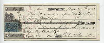 1868 Promissory note 10 cent Power of Atty R37c with vignette [y3851]