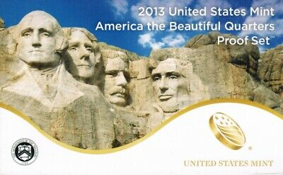 USA America the Beautiful Quarters Proof Set 2013
