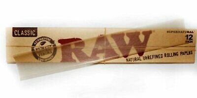 Brand New Raw 12 Inch Natural Rolling Papers 20 Leaves Super Size Papers