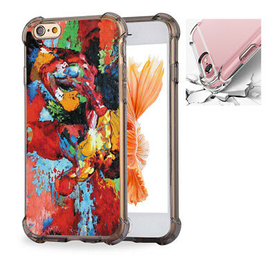 For iPhone X 6 6s 7 8 Case Cover epro by Leroy Neiman (Rocky vs Apollo) #7578