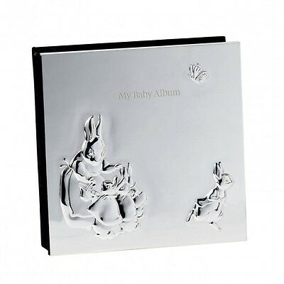 Wedgwood Beatrix Potter Peter Rabbit Silver Plated Baby Photo Album $125
