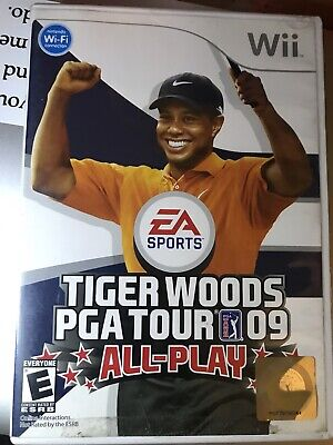 Tiger Woods PGA Tour 09: All-Play (Nintendo Wii, 2008) Complete CIB MINT