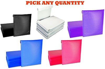 "#0 6x10 POLY BUBBLE MAILERS SHIPPING MAILING PADDED BAG ENVELOPES COLOR 6"" x 9"""