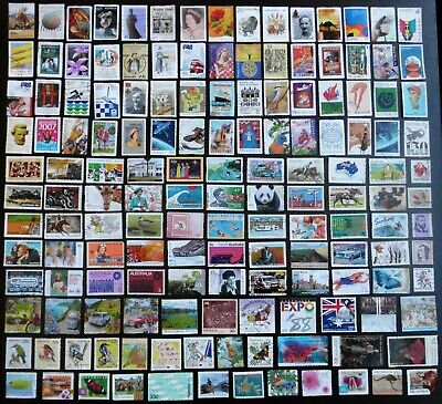AUSTRALIA mixed bulk lot, decimal collection, used, 150 different, MAU301