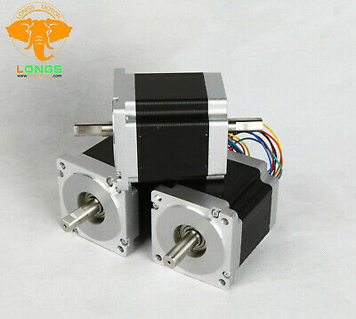 3PCS Nema34HST9805-02B2 stepper motor dual shaft 878oz.in 7Nm 2A 8Lead 98mm CNC