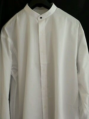 New Collarless Dress Shirt UNIFORMAL Vintage