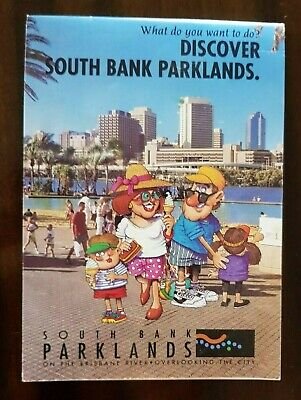 Brisbane Discover South Bank Parklands History / Brochure and Map 1992 -1995 era