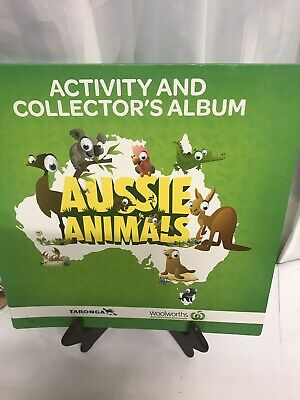 Woolworths Aussie Animals Activity And Collector's Album  Complete
