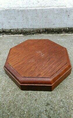 Vintage Mahogany Coloured Stained Wood Vase Trophy Bowl Figure Stand M