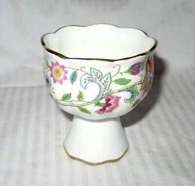 "Minton Bone China England Haddon Hall Pattern Miniature Compote Cup - 3"" Tall"
