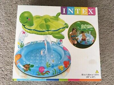 Intex Turtle Baby/Toddler UV Sun-Shade Childrens Kids Canopy Paddling Pool