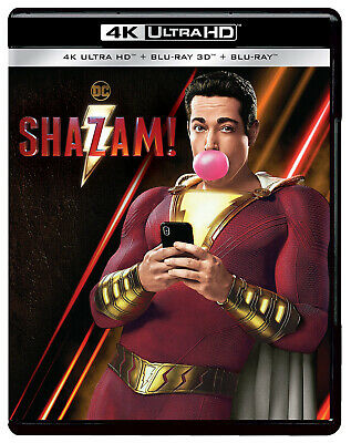 Shazam! (4K Blu-ray + Blu-ray 3D + Blu-ray) (2019) (NEW) (SHIPS 2 WEEKS EARLY)