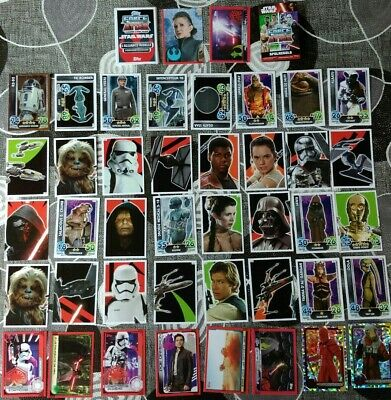 STAR WARS FORCE ATTAX - Lot de 40 cartes - Trading card game - TOPPS