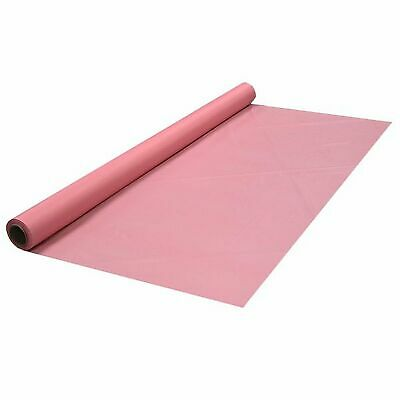 """1 of Party Essentials 40"""" X 100' Heavy Duty   Plastic  Banquet Rolls - Pink"""
