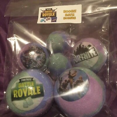 Kids Themed Hand Made Boogie Bath Bombs/2Lge/2Blasters/2 Bullets/2 Boys  Toys