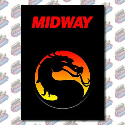 Arcade1up Mortal Kombat Arcade Cabinet Kickplate Graphic Decal Artwork Kit