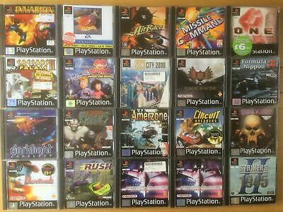 Sony PS1 PlayStation 1 One Rare PAL Selection Games Bundle -Pick Your Video Game