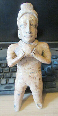 Scarce Pre-Columbian Mexican Ceramic Male Figure 600-800Ad Mayan Maya