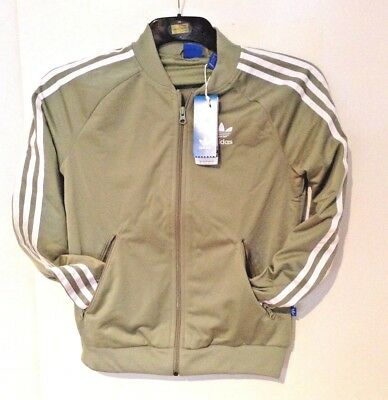 86df78a026684 NEW - Adidas Women's Superstar Track Top in Green 3 Stripes UK 8 only left