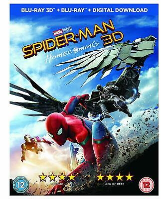Spider-Man Homecoming 2D+3D BLU-RAY- REGION FREE *NEW & SEALED FAST UK DISPATCH*
