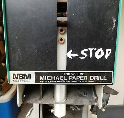 MBM Paper Drill 150 single spindle