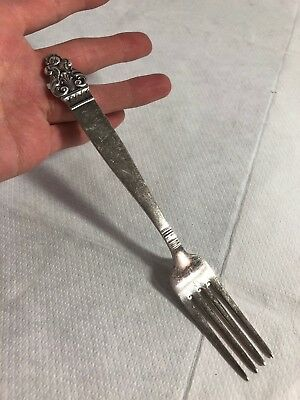 Vintage Single Silver Plate EPNS TH Marthinsen Norway Fork Arts & Crafts Vidar