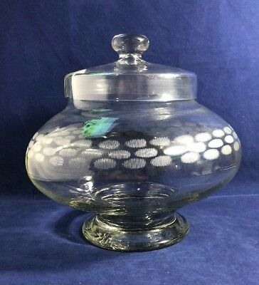 Lovely 1930s Art Deco Large Cut Detail Punch Bowl Display Storage