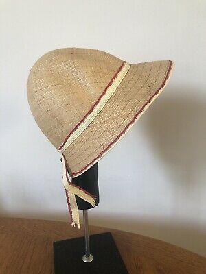Vintage Unused French Childs Girls Summer Hat Bonnet 1960s 1970s Retro