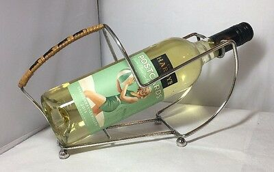 Vintage 1930's EPNS Silver Plated Wine Bottle Holder Pourer Caddy