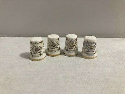 Vintage Royal Doulton Set of 4 Brambly Hedge Thimbles 4 Seasons