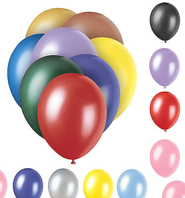 100 /50/ 30 LARGE PLAIN BALLONS helium BALLOONS Quality Birthday Wedding BALOON