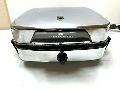 Vintage Chrome Toastmaster Model 269C Waffle Iron Griddle Maker Great Condition!