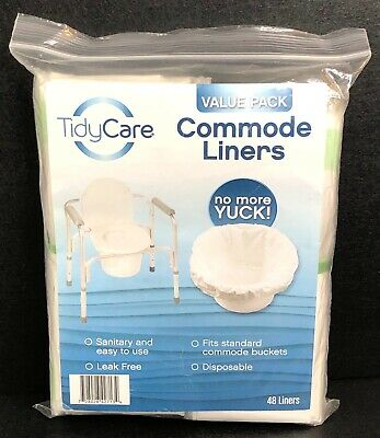 Tidy Care Commode Bags 48 ct