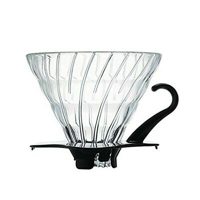 Hario : V60 Glass Coffee Dripper Size 02 - Black - for 1-4 cups (VDG-02B )