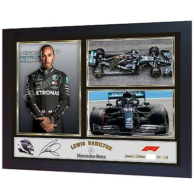 *** NEW F1 WORLD CHAMPION Lewis Hamilton signed autographed photo print Framed