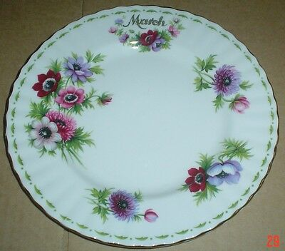 Royal Albert Flowers Of The Month Series Side Plate ANEMONES MARCH