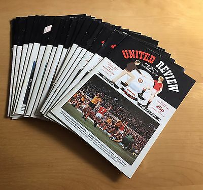 MANCHESTER UNITED - 1981/1982 Job Lot 18 home programmes : listed no duplicates