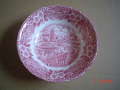 Broadhurst Pottery Dessert Bowl The Constable Series Pink Red