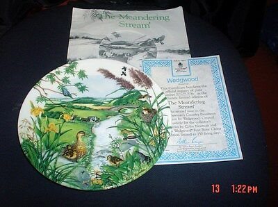 Wedgwood Collectors Plate The Meandering Stream Limited Edition Certificate