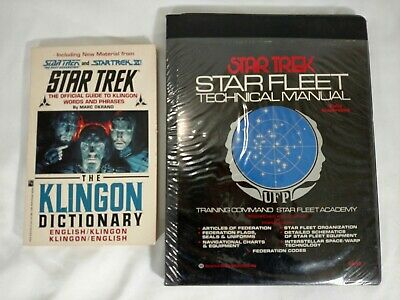 Star Trek Fleet Technical Manual 1975 First Edition & Klingon Dictionary Books
