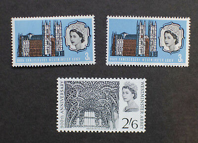 GB 1966 Westminster Abbey Ord & Phosphor Complete Set MNH